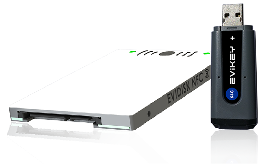 Award FIC 2015 EviKey NFC rugged USB Stick & EviDisk NFC rugged SSD Sata 3 unlock contactless by nfc phone Freemindtronic Andorra