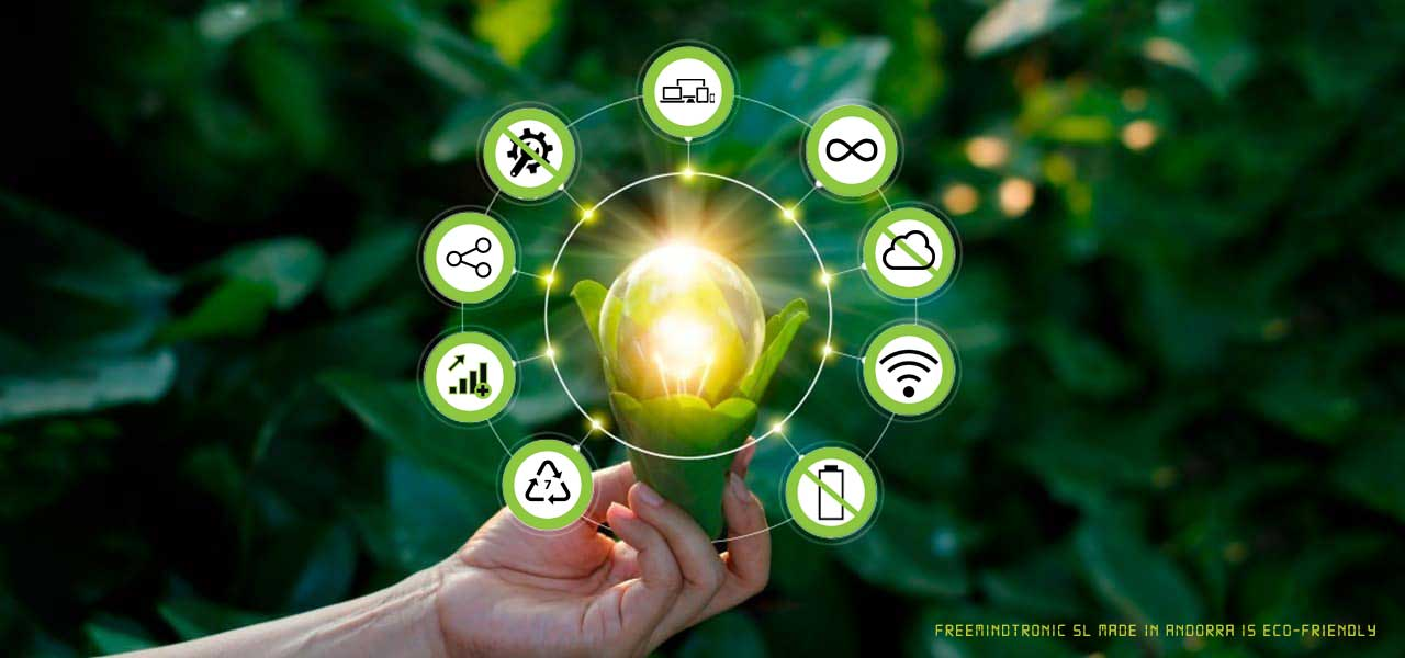 Hardware Secrets Manager, Eco-friendly, NFC devices, works contactless from Freemindtronic is sustainable technology respects the environment design & product made in Andorra