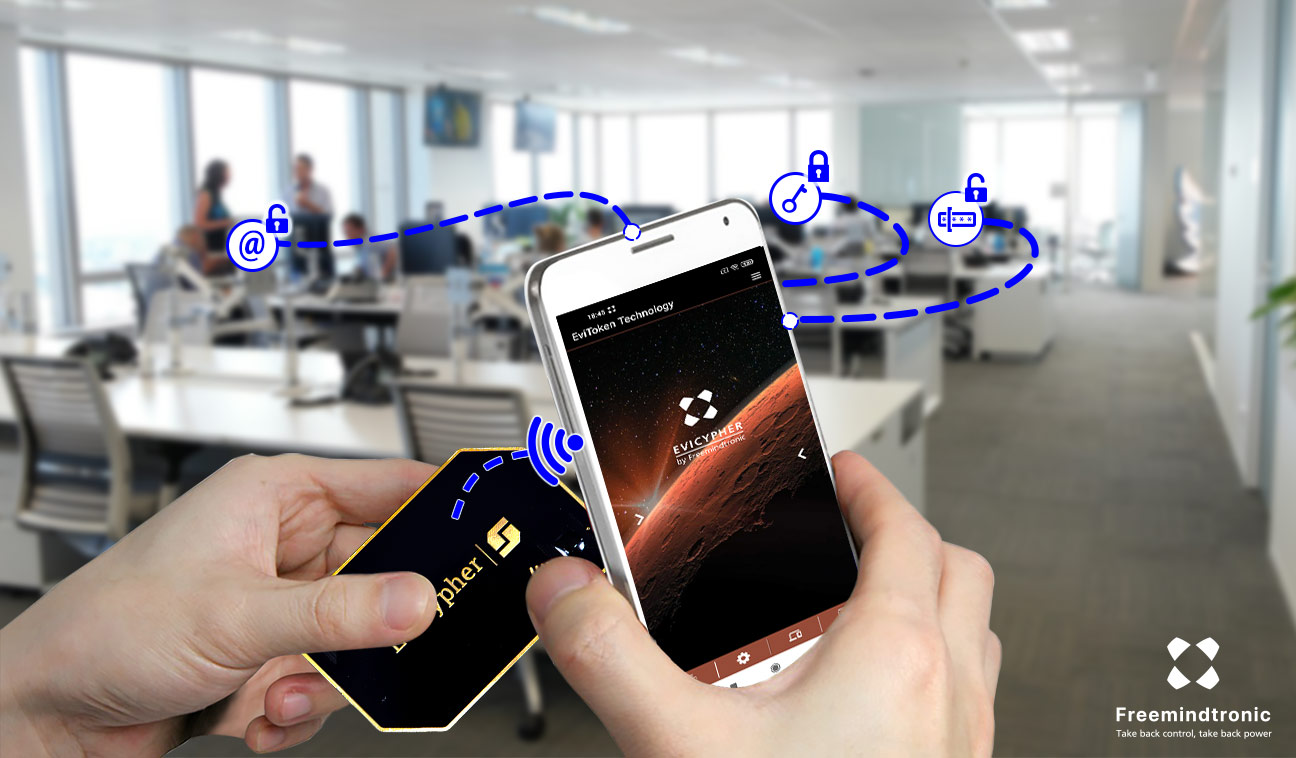 Contactless Passwordless Auto Login with the most innovative NFC hardware password manager which received the Global Infosec Awards 2021