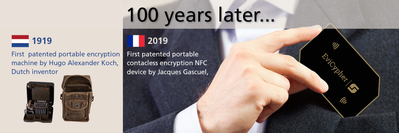 Contactless secrets keeper and data encryption the new invention 2021 from Jacques Gascuel 100 years after Mr Hugo Alexander Koch by freemindtronic Andorra