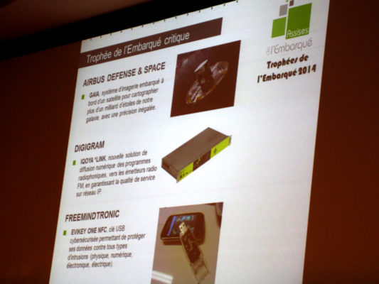 Embedded Trophy 2014 Freemindtronic Award 2014 Bercy Paris France EviKey NFC rugged USB Stick contactless unlock & NFC SSD Sata 3 Technology patented Andorra Copyright
