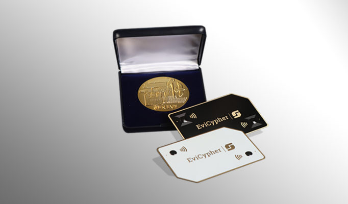 EviCypher Technology NFC hardware wallet encryption key manager password manager gold medal 2021 of the Geneva international inventions secret keeper management by Freemindtronic Andorra