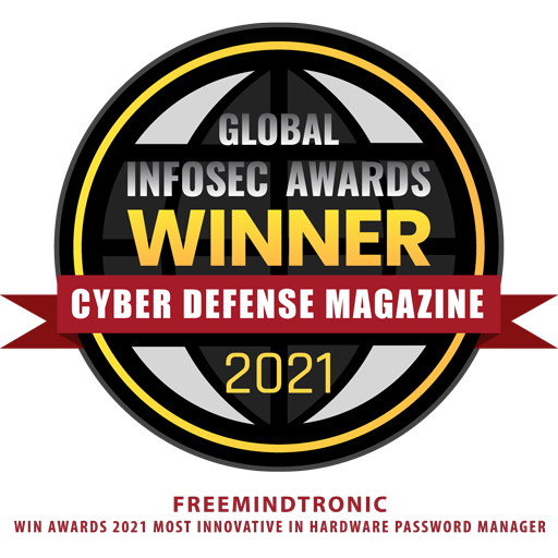 Freemindtronic win awards 2021 Most Innovative in Hardware Password Manager with EviCypher & EviToken Technologies