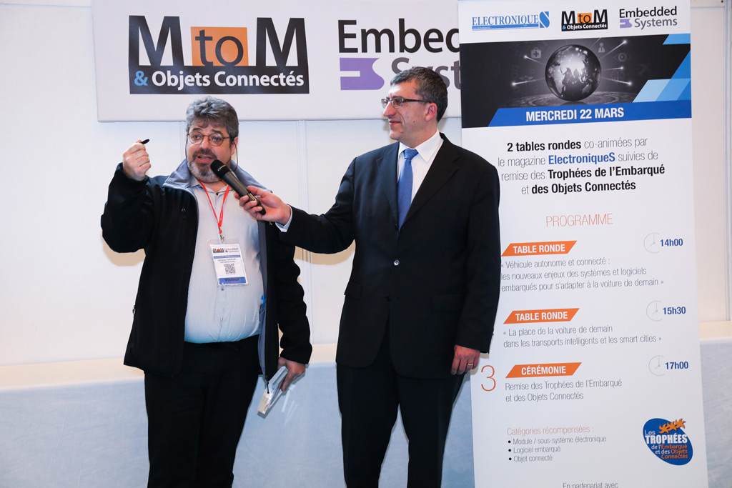 Award 2017 MtoM & Embedded System & IoT Freemindtronic Andorra winner in the category electronic module subsystem winner jacques gascuel EviTag NFC rugged hardware password manager working contactless