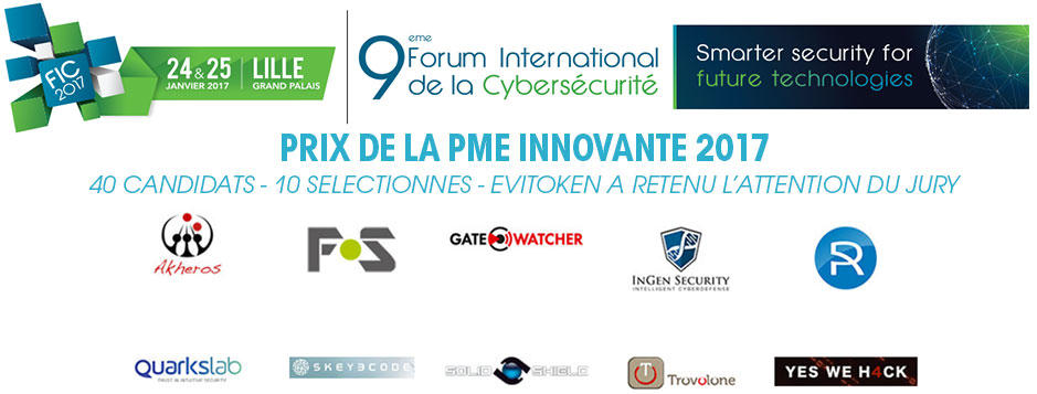 Award FIC 2017 10th Most innovative international startup Fullsecure from Freemindtronic Andorra with EviToken Technology