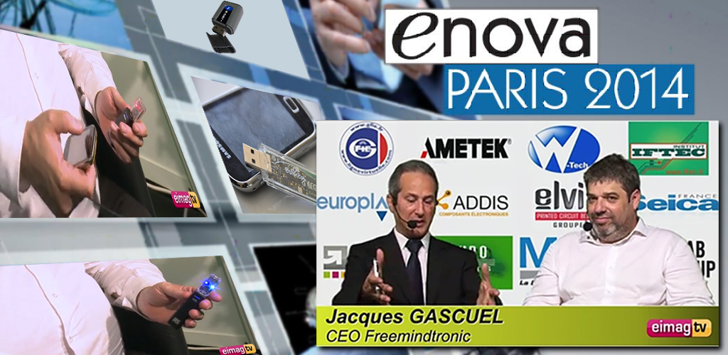 Enova Paris 2014 interview by Jacques Gascuel electronique mag interview EviKey NFC Rugged USB stick unlock contactless Freemindtronic Andorra