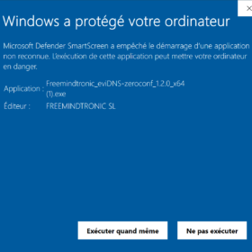 EviDNS Zeroconf check the signature software Freemintronic SL Editor Andorra